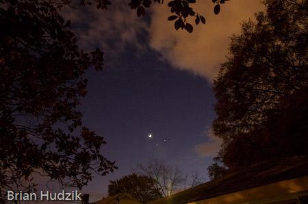 Moon, Venus, & Jupiter